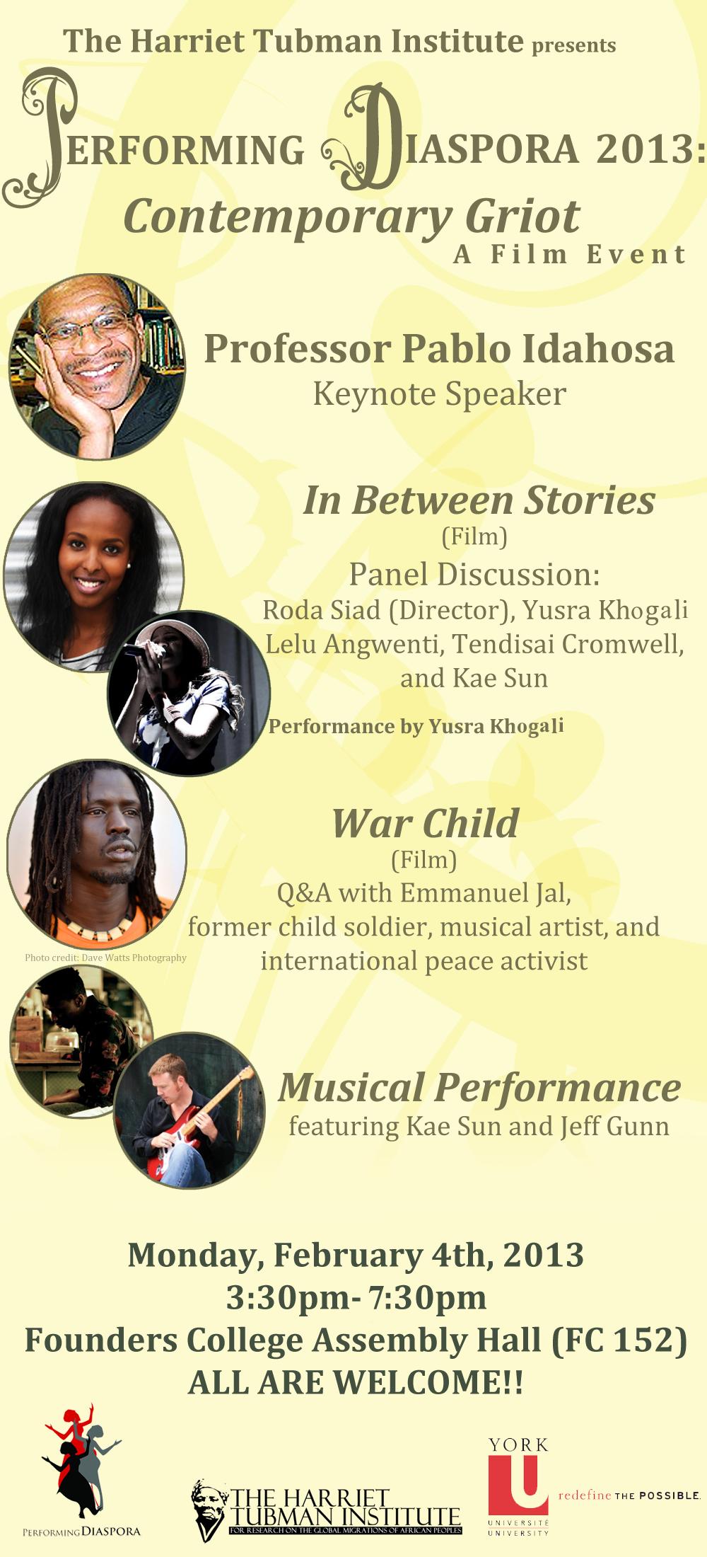 Performing Diaspora poster