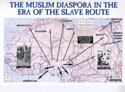 Muslim diaspora in the era of the slave route banner