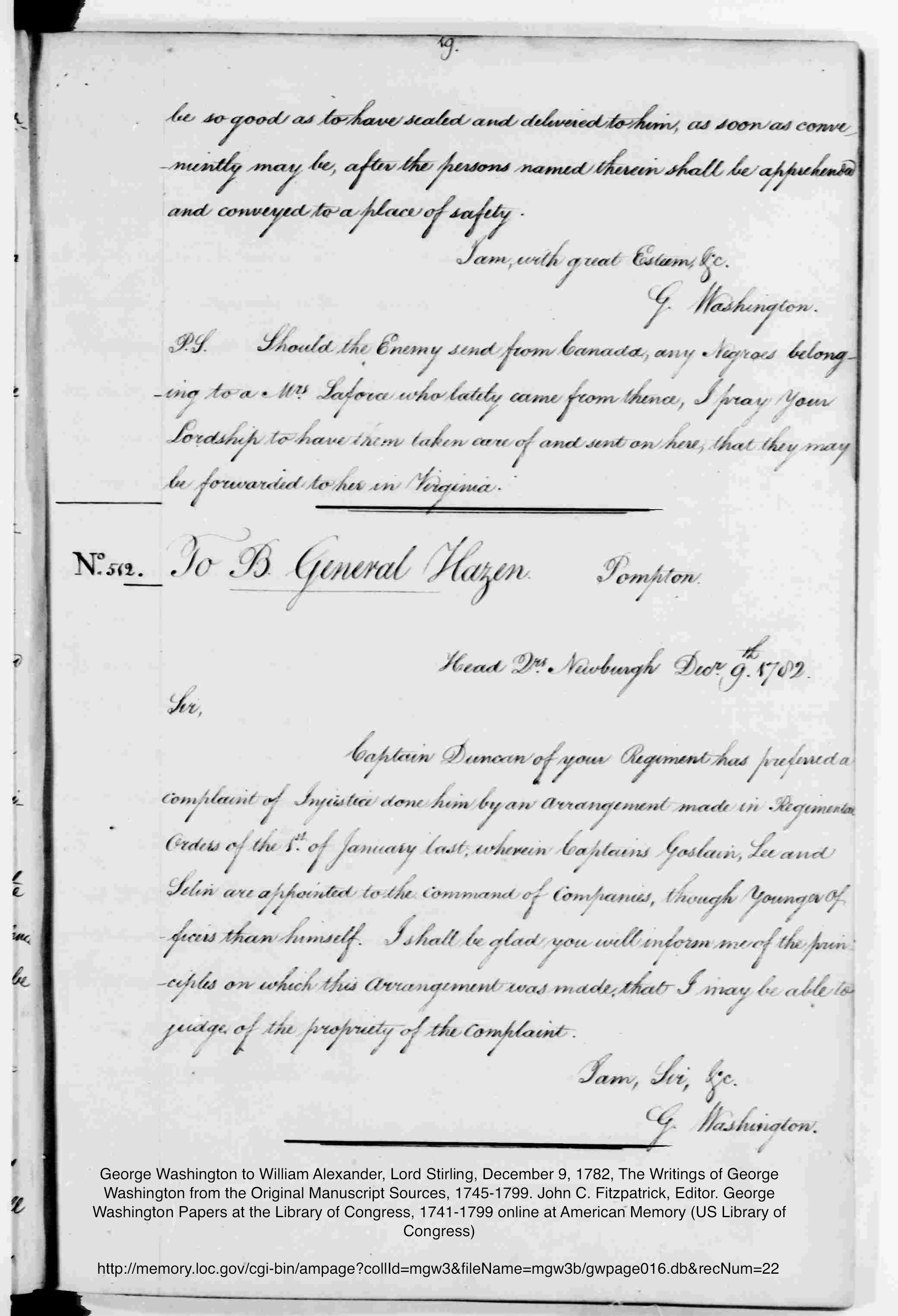 LIBRARY OF CONGRESS ATTRIBUTE BUT NO PERMISSION NEEDED 1792 Washington re LaForce