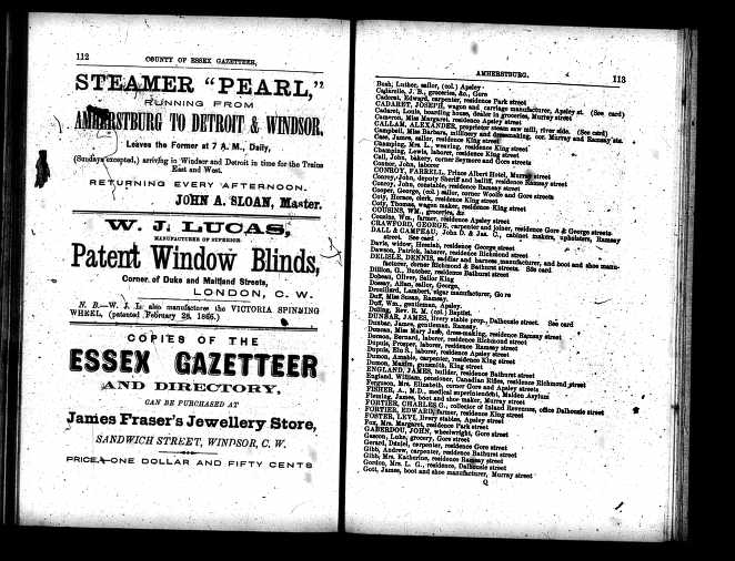 Levi Foster Directory 1866-7