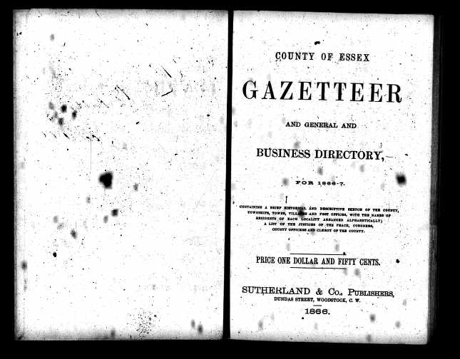 Levi Foster Directory 1867 Title page