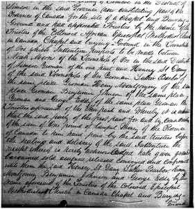 18. Excerpt from the land sale record, May 30, 1849_AO microfilm GS 5487