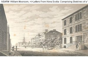 4. Province House, Hollis Street, Halifax 1830_J Clark_NSARM microfilm 3870