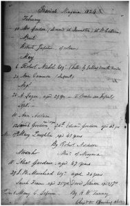 5. Burial of Robert Jupiter, 1824_Register of Baptisms, Burials and Marriages, 1792-1849, St. Mark's Anglican Church_AO micrfilm MS 545 R1