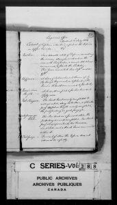 6.1 Captain Marlow's Report on the Defences in Upper Canada, July 3, 1814_RG 8 I, vol 388_LAC microfilm C-2936