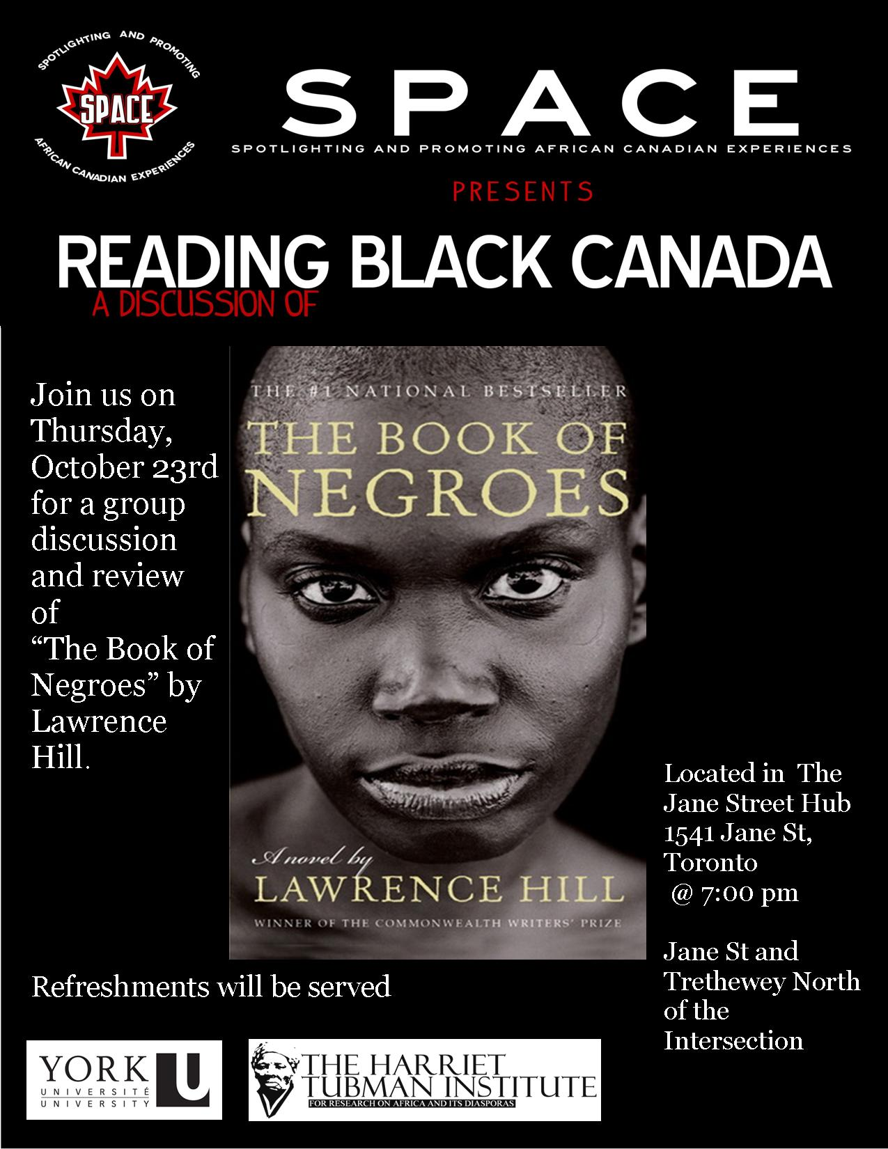 Reading Black Canada The Book of Negroes