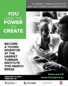 """The Young Inventors Initiative"" - March Break Camp at Tubman"