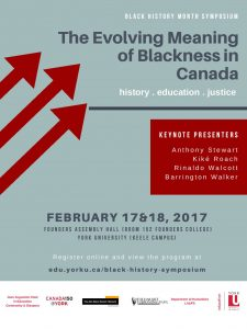 "Symposium: ""The Evolving Meaning of Blackness in Canada"" @ Founders Assembly Hall, Rm 152 