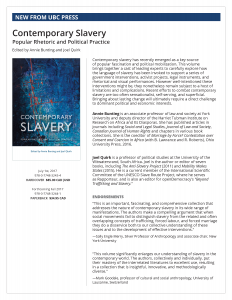 Book Launch: Contemporary Slavery: Popular Rhetoric and Political Practice @ Solarium, Falconer Hall, Faculty of Law, University of Toronto | Toronto | Ontario | Canada